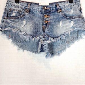 One Teaspoon Bonitas Denim Shorts